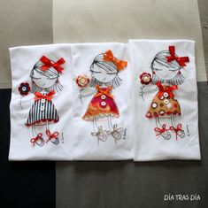 Sewing Clothes, Diy Clothes, Embroidery Applique, Embroidery Patterns, Bijoux Fil Aluminium, My Little Girl, Whimsical Art, Cute Dolls, Embroidered Flowers