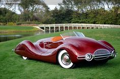 1948 Norman Timbs Buick Streamliner at the Amelia Island Concours d'Elegance.