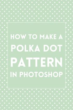 (updated in June 2015) How to make a polka dot background or pattern using Adobe Photoshop CC or any other image editing software.