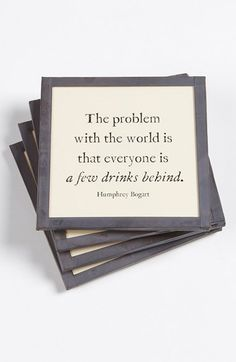 Ben's Garden 'The Problem with the World' Coaster Set available at #Nordstrom