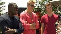 From left to right, Dayo Okeniyi, Alexander Ludwig, Jack Quaid :3
