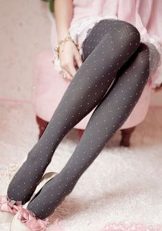 Pink and grey stockings