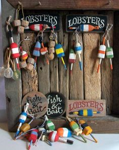Miniature LOBSTERS Sign one inch dollhouse by MarquisMiniatures