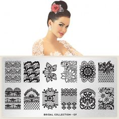 moyou Nail Art design Image Plates - Bridal Collection XL plate 07