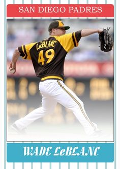 Wade LeBlanc San Diego Padres, Baseball Cards, Sports, Hs Sports, Excercise, Sport, Exercise