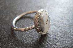 Unique handmade sterling silver and dendritic opal ring Handmade Silver Jewellery, Handmade Sterling Silver, Silver Jewelry, Fine Jewelry, Silver Rings, Opal Rings, Gemstone Rings, Gemstones, Unique