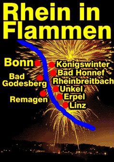 Rhine in Flames-huge fireworks along the Rhine river