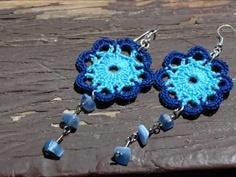 Tatting Earrings, Bead Earrings, Crochet Earrings, Crochet Jewellery, Love Crochet, Bead Crochet, Diy Crochet, Knitting Projects, Crochet Projects