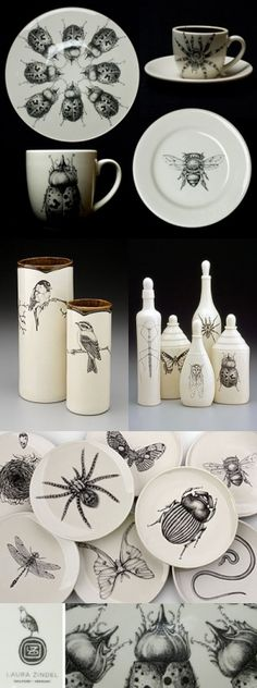 bugs!: bug dishes by christa More realistic accessories.