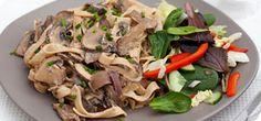 Garlic mushroom tagliatelle – Recipes – Slimming World (can add chicken)