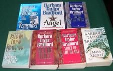 7 Paperback Lot by Barbara Taylor Bradford   Angel, A Secret Affair, Act of Will