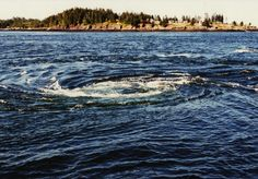 8 Enchanted Maine locations: The Old Sow Whirlpool is located in Passamaquoddy Bay and can grow to 250 feet. It's powerful enough to drop a ship 12 feet.