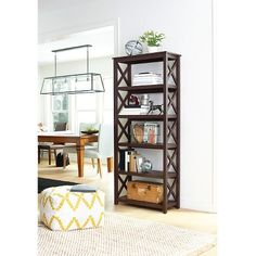 X 5-Shelf Bookcase - Gray - Threshold™ : Target