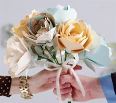 Vintage map paper flowers. Yes please!