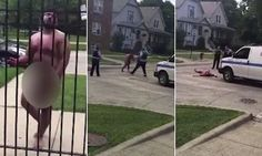 Shocking footage shows a naked man screaming at people in a Chicago neighborhood as he is covered in blood after cutting off his own penis. Man Go, Weird Things, Cut Off, Mail Online, Daily Mail, The Neighbourhood, Naked, Chicago, Rest