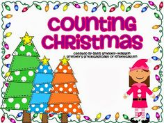 FREE!  Christmas counting cards are perfect for math centers and math tubs!