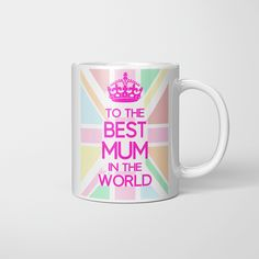 World Mother's Day, Mother's Day Mugs, Good Things, Prints, Microwave, Beverage, Dishwasher, Rhinestones, Embellishments