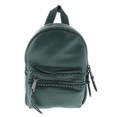 French Connection Womens Alexa Green w/ Chain Trim Backpack Purse NWT MSRP $88