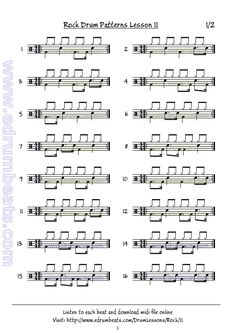 Rock beats lesson 11. Goto edrumbeats.com for more
