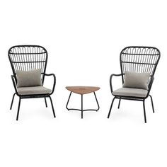 Provincial ease with an urban aesthetic, the Belham Living Braylen All Weather Wicker Outdoor Chat Set gives your outdoor living space a contemporary.