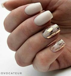 Best Nail Art - 61 Best Nail Art Designs for 2019 Today we have the Best Nail Art Designs for We have found 61 close to perfection nails that you will love dearly. Best Nail Art Designs, Acrylic Nail Designs, Foil Nail Designs, Accent Nail Designs, White Nail Designs, Milky Nails, White Acrylic Nails, White Gold Nails, Gold Nail Art
