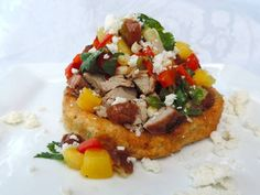 Aleppo-Cumin Pork Sopes with Pineapple-Date Salsa with Roasted Corn