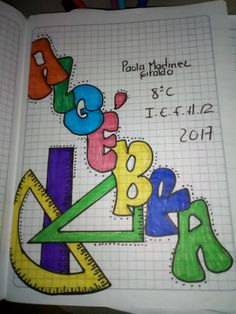 Colegio Notebook Art, Notebook Covers, Class Planner, School Binder Covers, Hand Lettering Alphabet, School Study Tips, School Notebooks, 3d Paper Crafts, Types Of Lettering