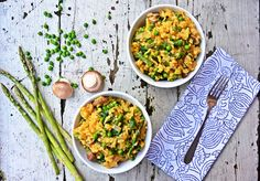 Baked Spring Vegetable Risotto