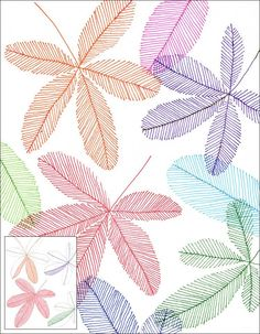 Marker Line Leaves – Art Projects for Kids