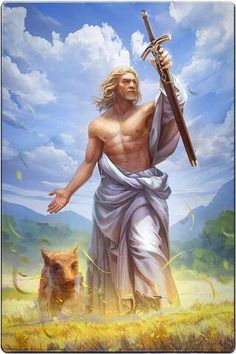 """Freyr (Old Norse: Lord) is a widely attested god associated with sacral kingship, virility and prosperity, with sunshine and fair weather, and pictured as a phallic fertility god in Norse mythology. Freyr is said to """"bestow peace and pleasure on mortals"""". Pagan Gods, Norse Pagan, Old Norse, Norse Mythology, Greek Mythology, Thor, Vikings, Les Runes, Symbole Viking"""