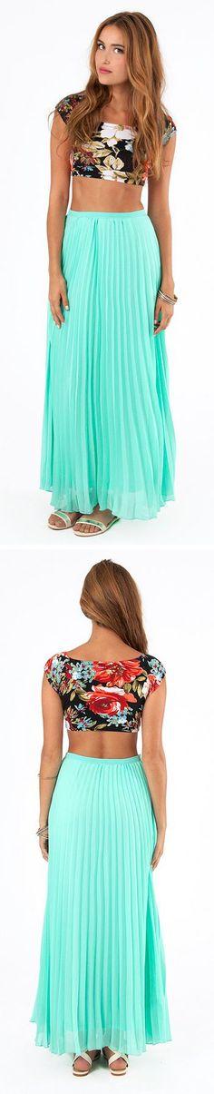 Crop Top + Maxi Skirt