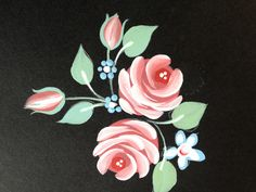 Lovely vintage roses..they take us back in time..we have to stop ourselves painting them everywhere!!