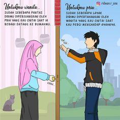 "INDONESIAMENGAJI.ID di Instagram ""SUDAH SEBERAPA PANTAS? . ""Wanita-wanita yang keji adalah untuk laki-laki yang keji, dan laki-laki yang keji adalah buat wanita-wanita yang…"" Muslim Photos, Me Quotes, Motivational Quotes, Hijab Quotes, Cute Muslim Couples, Islamic Cartoon, Anime Muslim, Hijab Cartoon, Universe Quotes"