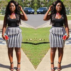 Monochrome with a pop of Ankara... feat. accessories by @ceo_of_hawasboutique #ootd #spring #fashion #style #ankara #print #monochrome #blackandwhite #stripes #maaliyahhair #abenalove