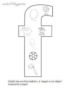 Játékos tanulás és kreativitás: Kisbetűkben képek a hangfelismerés gyakorlásához Dysgraphia, Letter Activities, Worksheets, Preschool, Symbols, Letters, Teaching, Writing, Education