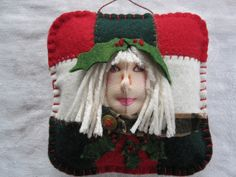 Little Patchwork Girl  Holly for Christmas by MountainDolls, $20.00  Christmas in July