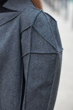 Love multiple seams, perhaps best suited for Castithans  Wool Coat - Chanel Fall Winter 2012 showpiece