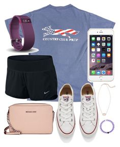 """""""My youth is yours"""" by jadenriley21 on Polyvore featuring Converse, Fitbit, Kendra Scott and Michael Kors"""
