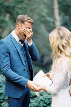 This emotional groom doesn't hold back.
