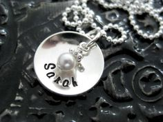 Hand Stamped Mommy Necklace by BragAboutIt