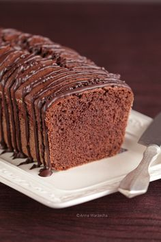Murzynek Cafe Amaretto, Vanilla Cake, Banana Bread, Cooking Recipes, Yummy Food, Sweets, Chocolate Cakes, Breads, Polish