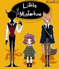 Little Misfortune [ Design ] by on DeviantArt Good Horror Games, Rpg Horror Games, Video Games Funny, Funny Games, Little Misfortune, Creepy Games, Mundo Dos Games, A Hat In Time, Miss Fortune