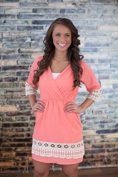 The Pink Lily Boutique - Enchanted To Meet You Coral Dress, $39.00 (http://thepinklilyboutique.com/enchanted-to-meet-you-coral-dress/)