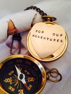 A personal favorite from my Etsy shop https://www.etsy.com/listing/266997225/groom-wedding-gift-working-compass-key