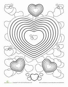 Free Printable Valentine Heart Balloons Coloring Pages For Kidsfree