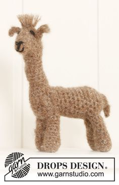 Hi, I'm Roger the Alpaca. I'm cute and cuddly  I'll make the perfect, soft baby #christmas present! #crochet #DropsDesign
