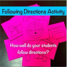 Teach Your Students to Give & Follow Directions!