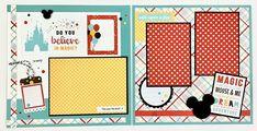 Disney-like Scrapbook Page Kit or Premade Disney Theme 6 image 1 Disney Scrapbook Pages, 12x12 Scrapbook, Scrapbook Templates, Scrapbook Paper Crafts, Scrapbook Supplies, Scrapbooking Layouts, Digital Scrapbooking, Scrapbook Titles, Do It Yourself Kit