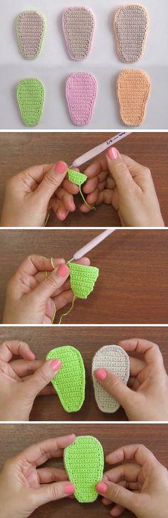Easiest Baby Shoe Insoles to Crochet - Design Peak