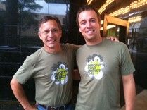 Tim Samaras and Reed Timmer. :(  The torch has been passed on and now Samaras' legacy will continue with Reed who stated Samaras was like a father to him.